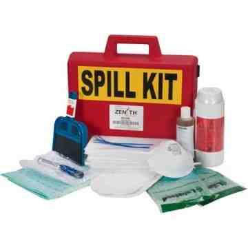 Mercury Spill Kit, Hazmat, Case, 50 ml Absorbancy