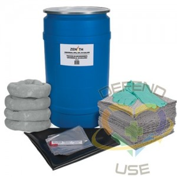Shop Spill Kit, Universal, Drum, 30 US gal. Absorbancy