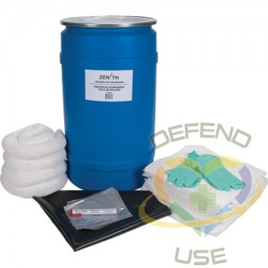 Shop Spill Kit, Oil Only, Drum, 30 US gal. Absorbancy