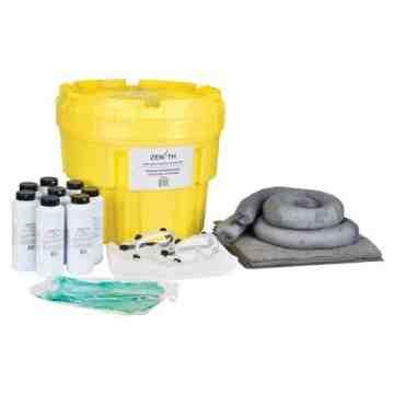 Caustic Spill Kit, Hazmat, Salvage Drum/Overpack, 20 US gal. Absorbancy