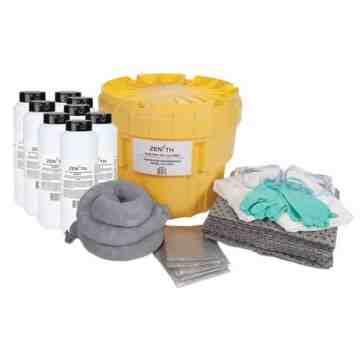 Acid Spill Kit, Hazmat, Salvage Drum/Overpack, 20 US gal. Absorbancy