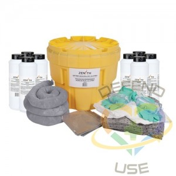 Battery Acid Spill Kit, Hazmat, Salvage Drum/Overpack, 20 US gal. Absorbancy