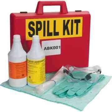 Lab Acid/Base Spill Kit, Hazmat, Case, 1 US gal. Absorbancy