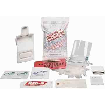 Fluid Spill Clean-Up Kit, Hazmat, Bag, None Absorbancy