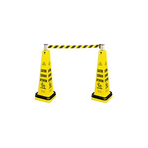Portable Barricade System 6276 Cone & Belt Cassette - Yellow, 1/EA