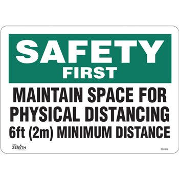 """SGU339   """"Physical Distancing"""" Sign, 10"""" x 14"""""""
