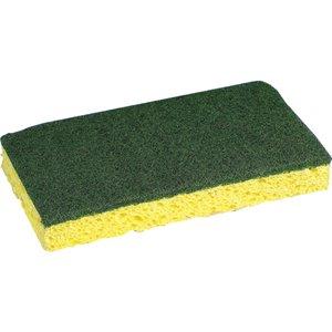 "Cellulose Sponge with Heavy Duty Scour 6x4"", 40/cs"