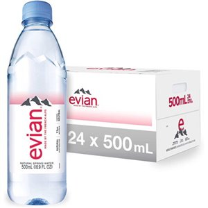 Evian Spring Water Classic 24x500ml, Price Per 1