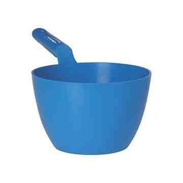 Large Bowl Scoop, 64 Oz., Polypropylene, Blue/Yellow - 1