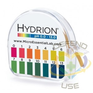 Hydrion® Insta-Check® 0-13 pH test paper L × W 50 ft × 7/32  in. - 1