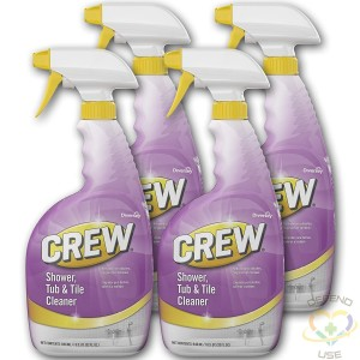 Crew, Shower Tub & Tile Cleaner Trigger, Case of 4/946ml - 1