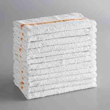 "Bar Towel, Striped, 16"" x 19"" 100% Cotton Green Striped Bar Towel - 1"