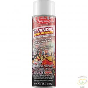 SPRAYWAY  Gel Vandal Mark Remover Container Size: 20 oz. - 1