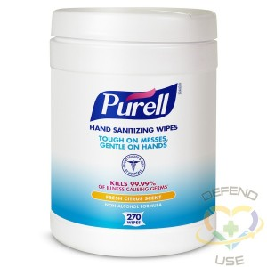 PURELL Hand Sanitizing Wipes, Fresh Citrus Scent, 270 Count Alcohol-free formula Sanitizing Wipes in Eco-Fit Canister - 2