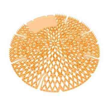 Diamond 3D/Pearl Urinal Screen 10/pk Lt Orange - Sunburst - 2