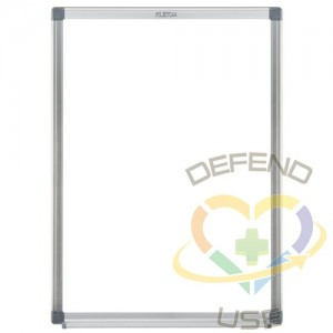 """Porcelain Whiteboard, Magnetic, 18"""" W x 24"""" H, Height: 24"""",Width: 18"""",Style: Magnetic"""