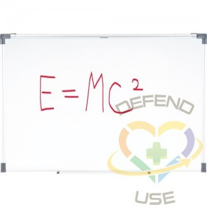 """White Boards , Non-Magnetic, 48"""" W x 36"""" H, Weight: 15.5 lbs.,,"""