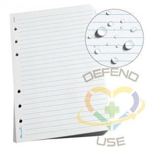 """Loose Leaf Paper, Sheet Size: 4-5/8"""" x 7"""",Rule Type: Standard Ruled,Paper Colour: White,No. of Sheets: 100"""