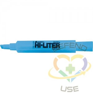 Avery Hi-Liter, Colour: Blue,Tip Type: Chisel,Style: Non Retractable,Type: Fluorescent