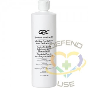 GBC Shredder Oil, Container Type: Bottle,Container Size: 473 ml (16 oz.)