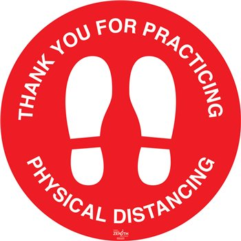 """SGU322   """"Physical Distancing"""" Floor Sign"""