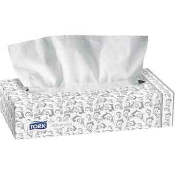 "TORK  Facial Tissues, 2 Ply, 7.9"" L x 8.2"" W, 100 Sheets/Box Boxes/Case: 30 - 1"