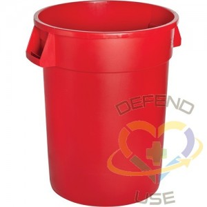 Waste Container Garbage Can, Polyethylene, 44 US gal.
