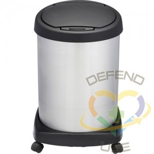 Shop-Can Waste-Receptacles, Stainless Steel, 12 gal.