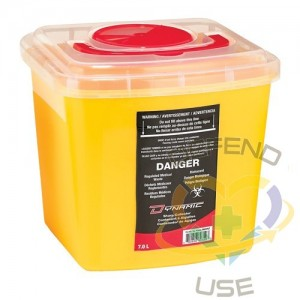 Sharps Container,Capacity: 7 L