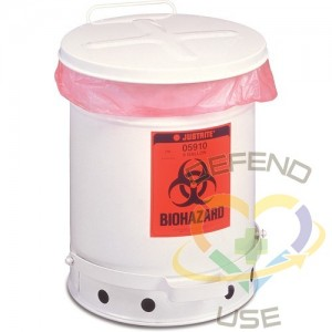 Biohazard Waste Container,Capacity: 10 gal.