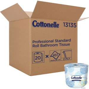 Kleenex® Cottonelle® Toilet Paper, 2 Ply, 451 Sheets/Roll, 150' Length, White, Case of 20 - 1