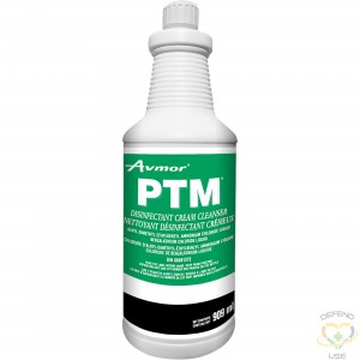 AVMOR  PTM Disinfectant Cream Cleanser, Bottle Container Size: 909 ml - 1