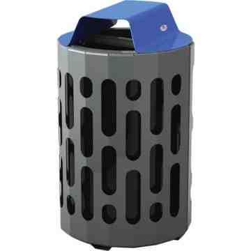 2020 Stingray Waste Receptacles, Metal, 42 US gal., Length: 23