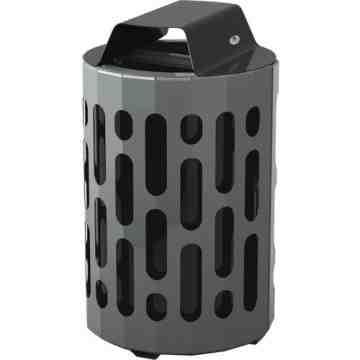 2020 Stingray Waste Receptacles, Metal, 42 US gal., Height: 39