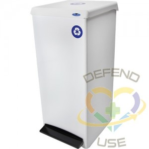 Foot Operated Waste Receptacle, Steel, 25 US gal.,Recommended Bag Size: 66 cm x 91.4 cm (26  x 36 )