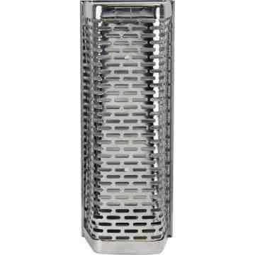 Chrome Urinal Block Holder,Dimensions: 8.9cm W x 22.9cm H x 7.6cm D (3 1/2″ W x 9  H x 3  D)