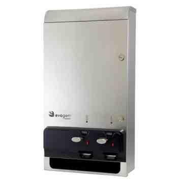 "EvoGen® Dual Vendor, Free Vend, Stainless Steel, 26"" x 14"" x 5.625"", 1 ea - 1"