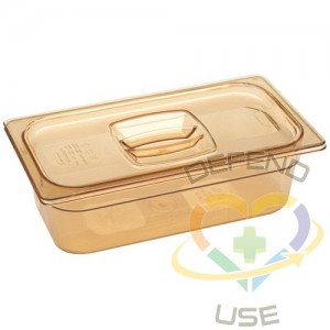 """RUBBERMAID,1/3-Sized Cold Food Pan,Capacity: 4 qt.,Depth: 4"""""""