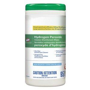 CLOROX, Wipes, Clorox Hydrogen Peroxide Cleaner Disinfectant Tub, 6/95ct, Price Per Case