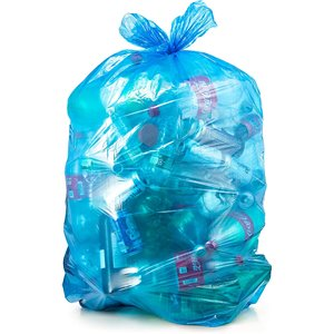 DEFENDUSE, Garbage Bags, Blue Tint, 42x48 -100/cs, Pallet/60, Price Per Case
