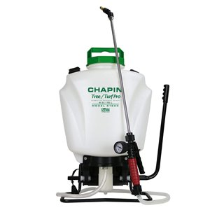 CHAPIN, Backpack Sprayer, Tree/Turf Pro Commercial Steel Wand, 4G, Price Per Each