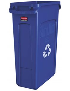 Slim Jim w/Venting Container 23G w/Recycle - Blue, 4/EA - 1