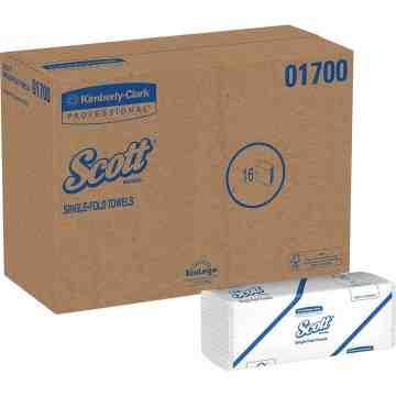 01700 | Scott Single Fold Towels, 250 Sheet/16 Per Case