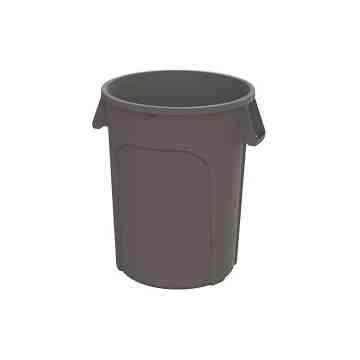 Waste Container Round 10G - Grey 6 Per Pack, Price Per EA