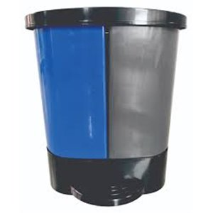 Step On 2 Stream Container - Waste/Recycle 2x26L - Black/Blue 2 Per Pack, Price Per EA