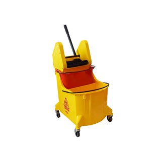 Mopping Combo - Downpress Combo 35qt w/Red Dirty Water Bucket - Yellow 1 Per Pack, Price Per EA