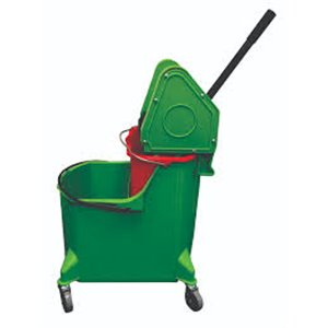 Mopping Combo - Downpress 35qt w/Red Dirty Water Bucket - Green 1 Per Pack, Price Per EA