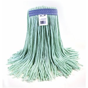 Mop - Cut End Eco-Pro Recycled Material 16oz - Green 12 Per Pack, Price Per CS
