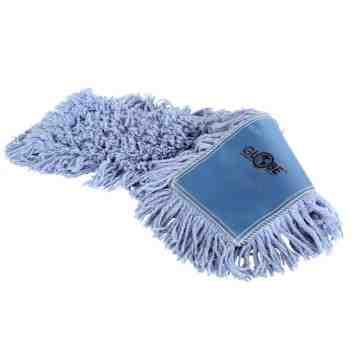 """Mop Head - Pro-Stat Dust Mop 24x5"""" Slip-On - Blue 24 Per Pack, Price Per CS"""