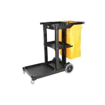 Janitor Cart - HD Cart w/HD Bag - Black 1 Per Pack, Price Per EA